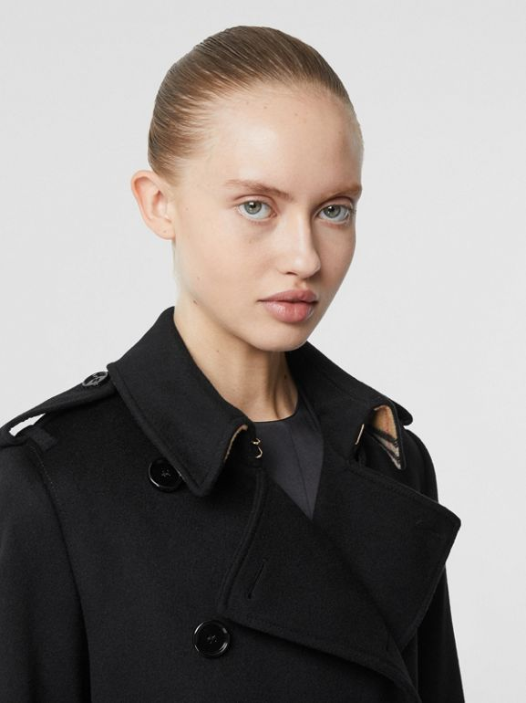 Cashmere Trench Coat in Black - Women | Burberry Australia - cell image 1
