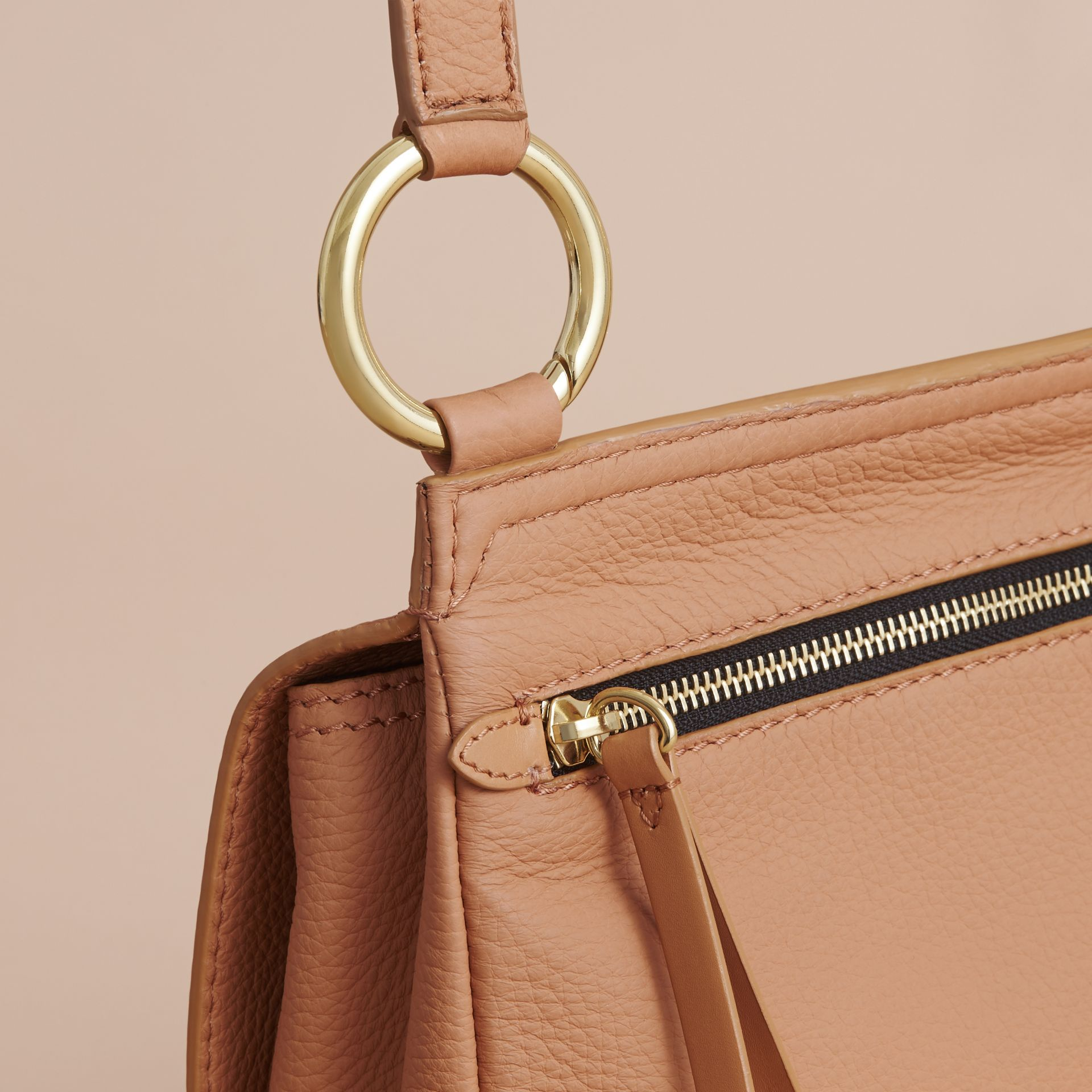 The Bridle Crossbody Bag in Deerskin in Pale Clementine - Women | Burberry - gallery image 6