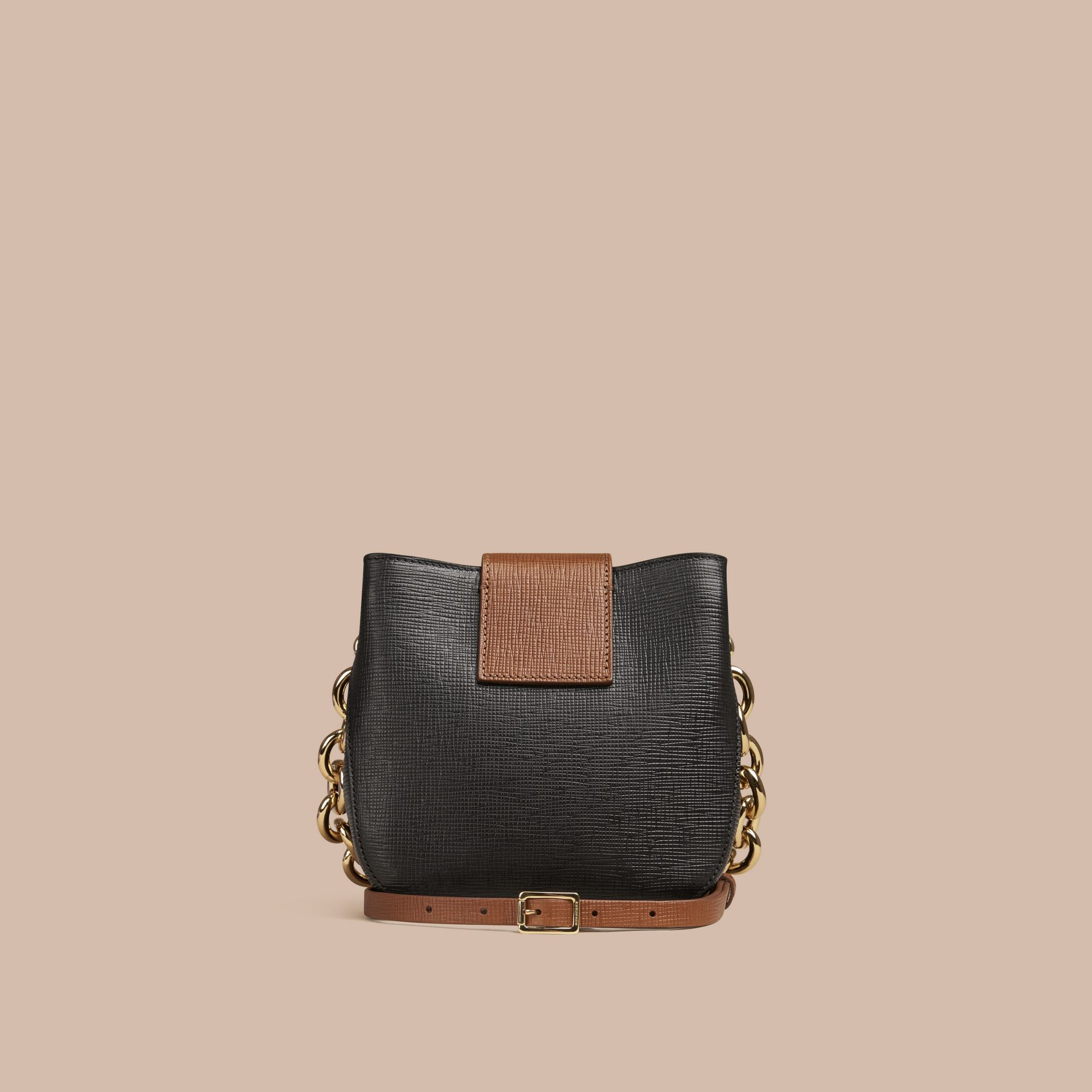 Black The Small Square Buckle Bag in Leather - gallery image 4