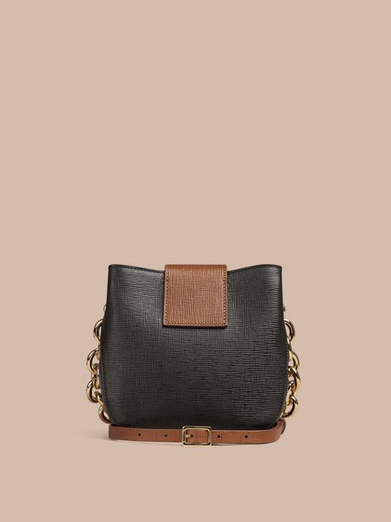 Black The Small Square Buckle Bag in Leather - cell image 3