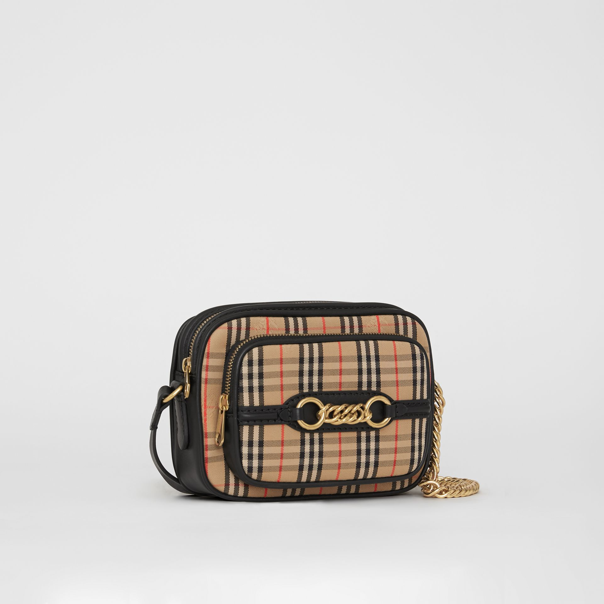 The 1983 Check Link Camera Bag in Black - Women | Burberry Australia - gallery image 7