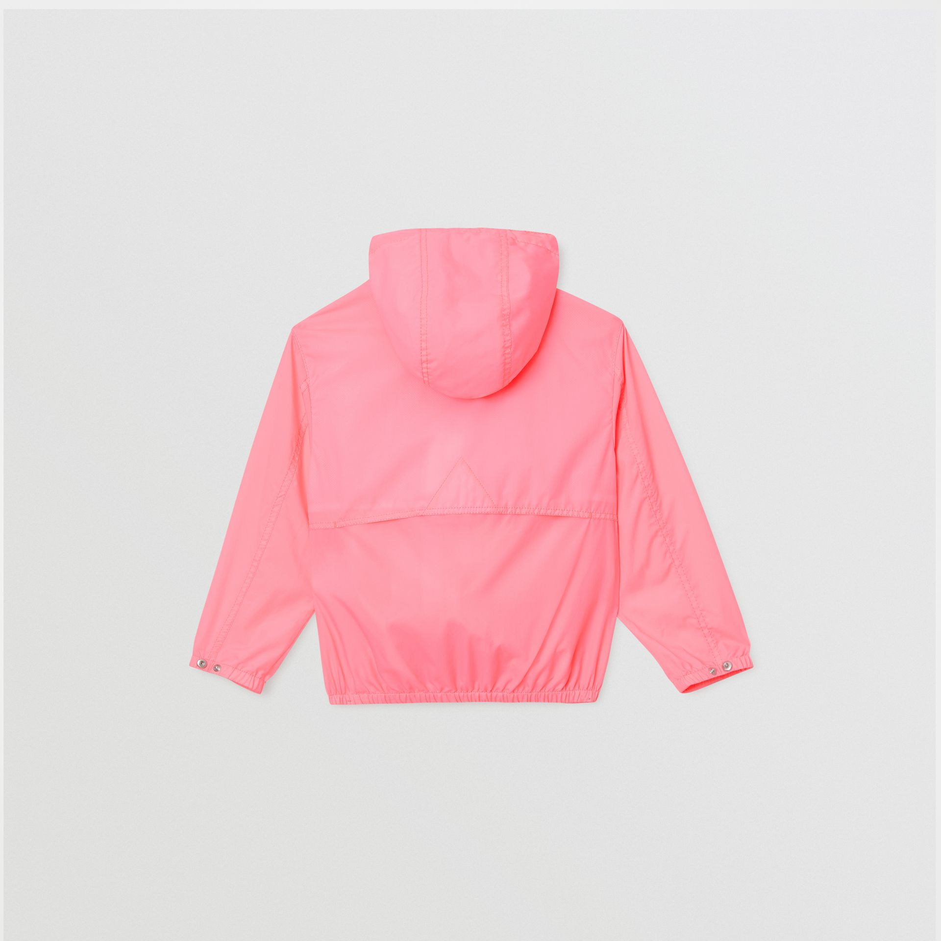 Logo Print Lightweight Hooded Jacket in Bright Rose | Burberry - gallery image 3