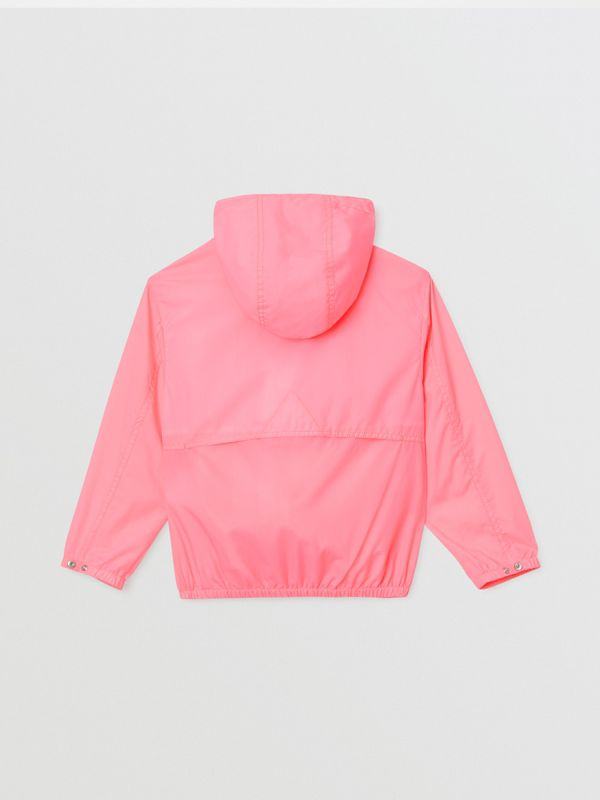 Logo Print Lightweight Hooded Jacket in Bright Rose | Burberry - cell image 3