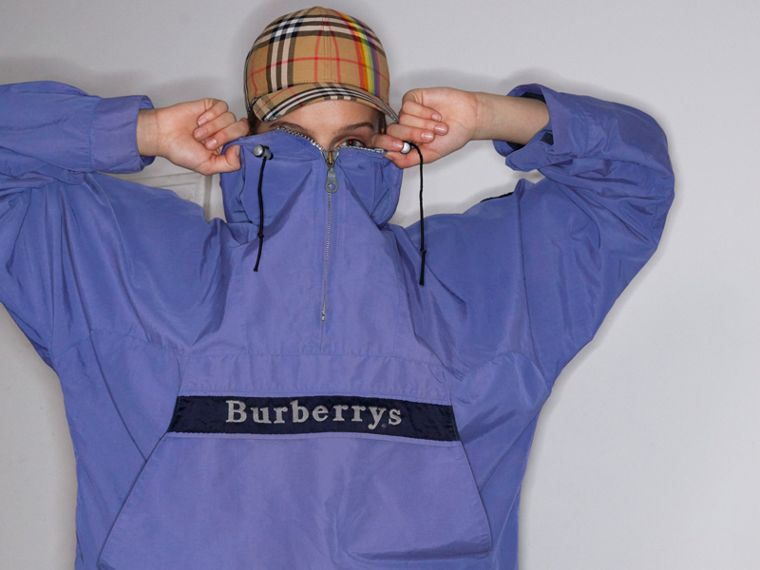 Reissued Hooded Anorak in Purple - Women | Burberry United Kingdom - cell image 4