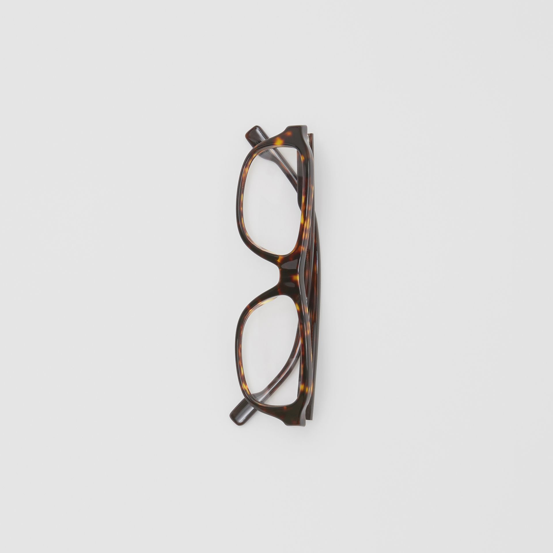 Rectangular Optical Frames in Tortoiseshell - Men | Burberry United Kingdom - gallery image 3