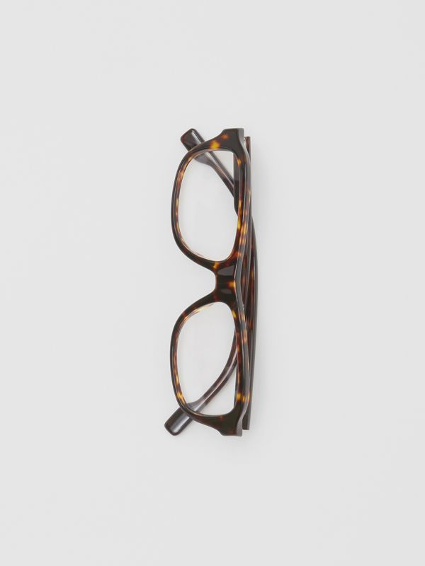 Rectangular Optical Frames in Tortoiseshell - Men | Burberry United States - cell image 3