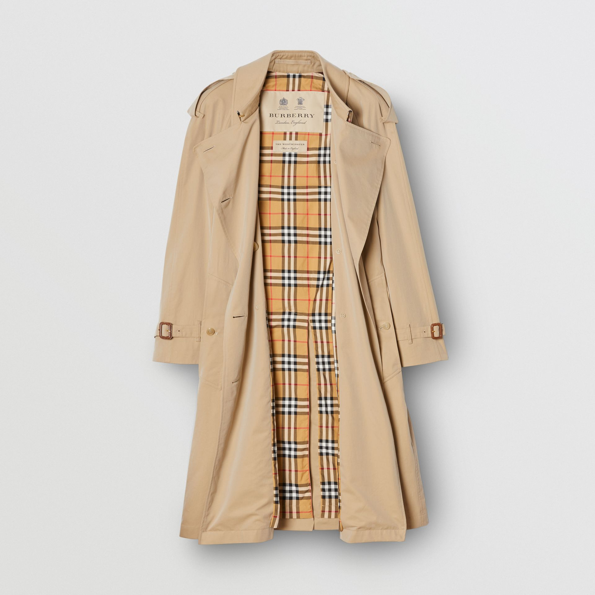 The Mid-length Westminster Heritage Trench Coat in Honey - Women | Burberry Australia - gallery image 3