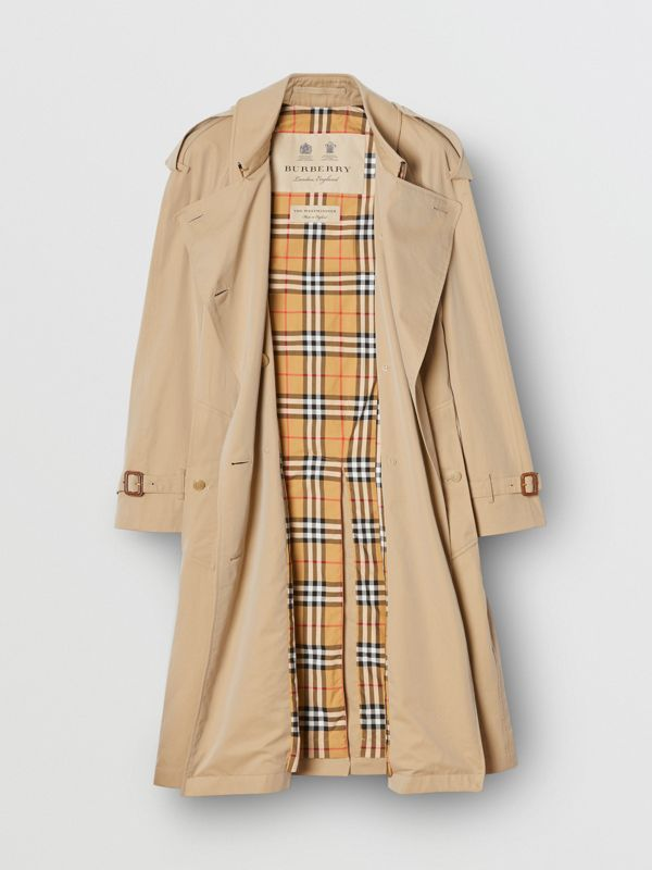 The Mid-length Westminster Heritage Trench Coat in Honey - Women | Burberry Australia - cell image 3