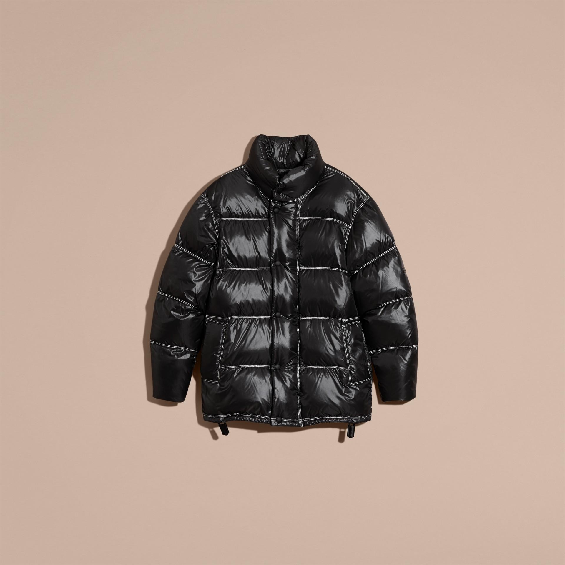 Черный Пальто на пуху - изображение 4