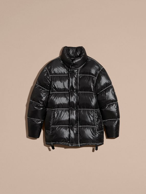 Black Down-filled Puffer Coat - cell image 3