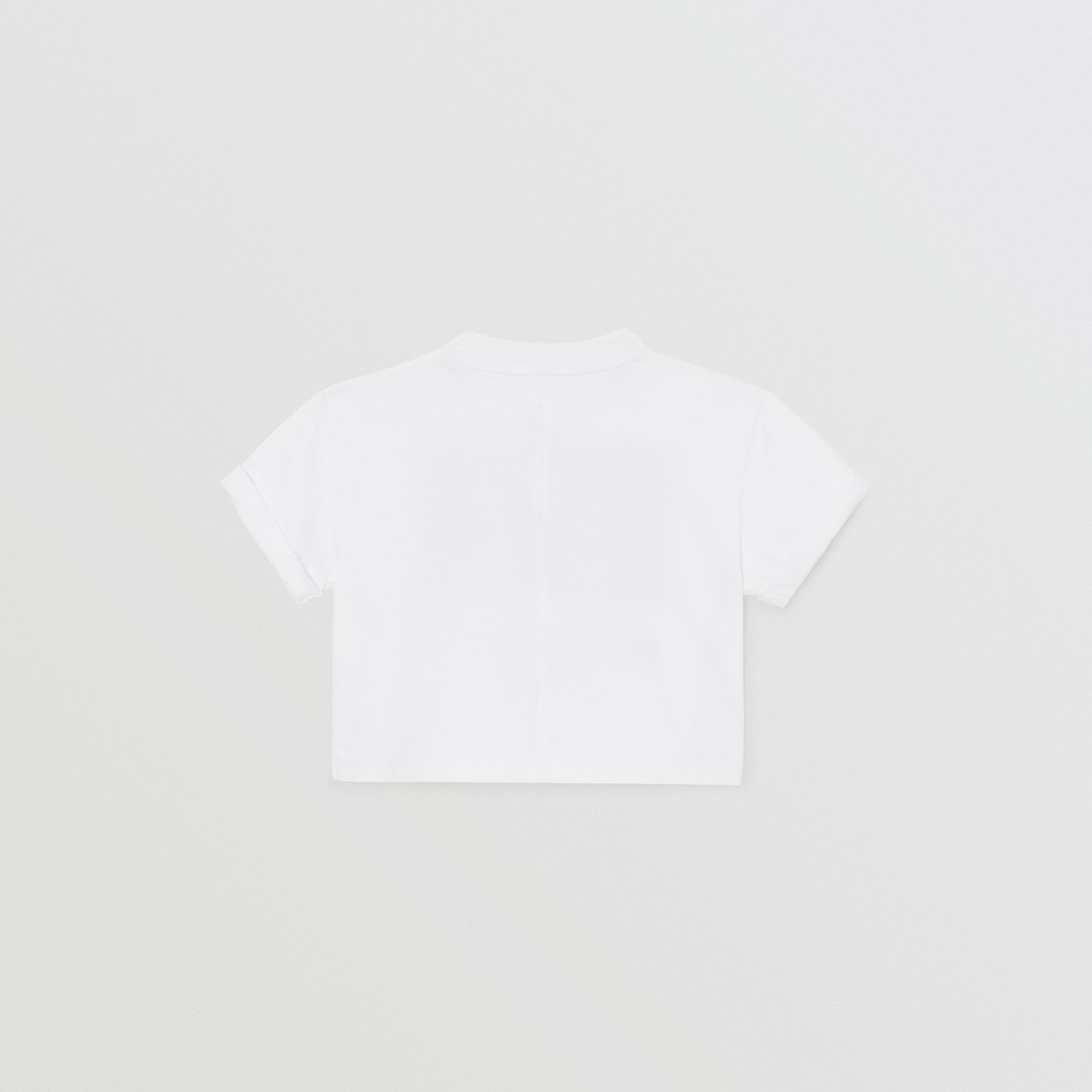 Vintage Photo Print Cotton T-shirt in White - Children | Burberry Canada - gallery image 2