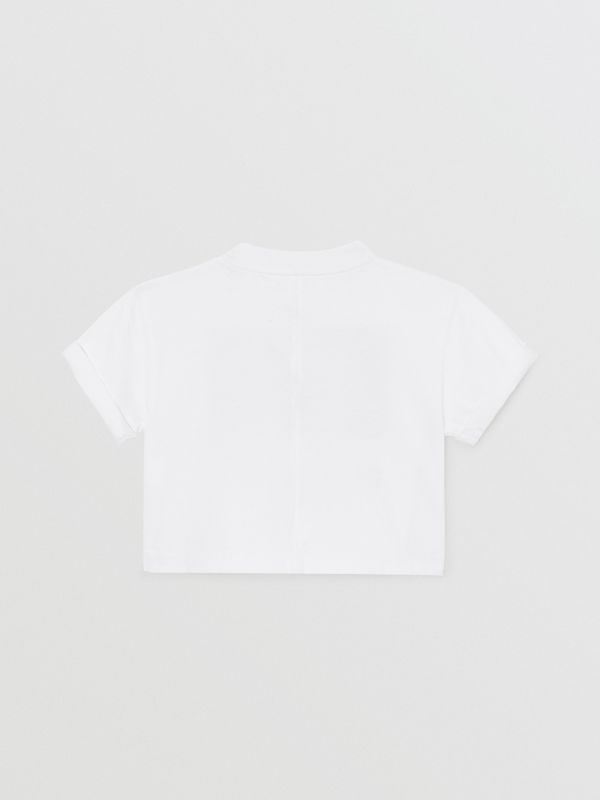 Vintage Photo Print Cotton T-shirt in White - Children | Burberry - cell image 2