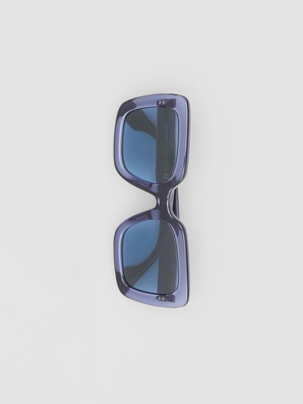 Oversized Square Frame Sunglasses in Blue - Women | Burberry United Kingdom - cell image 2