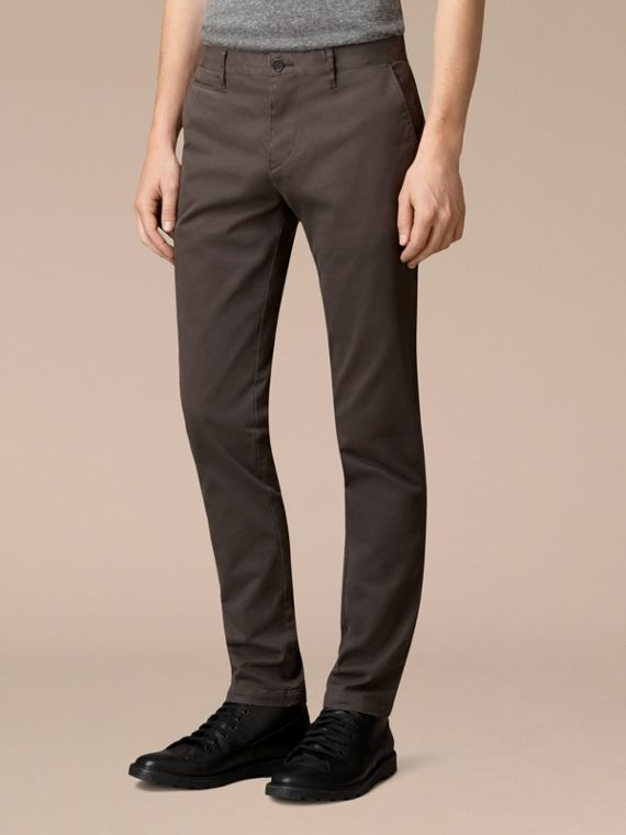 Flint Slim Fit Stretch-Cotton Twill Chinos Flint - cell image 2