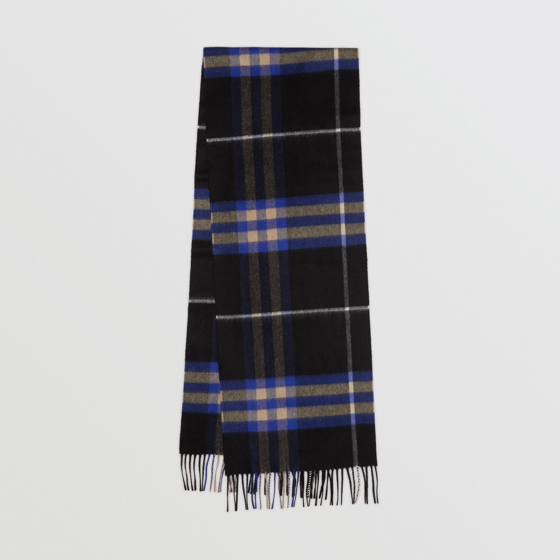 The Classic Check Cashmere Scarf in Bright Cobalt | Burberry United Kingdom - gallery image 0