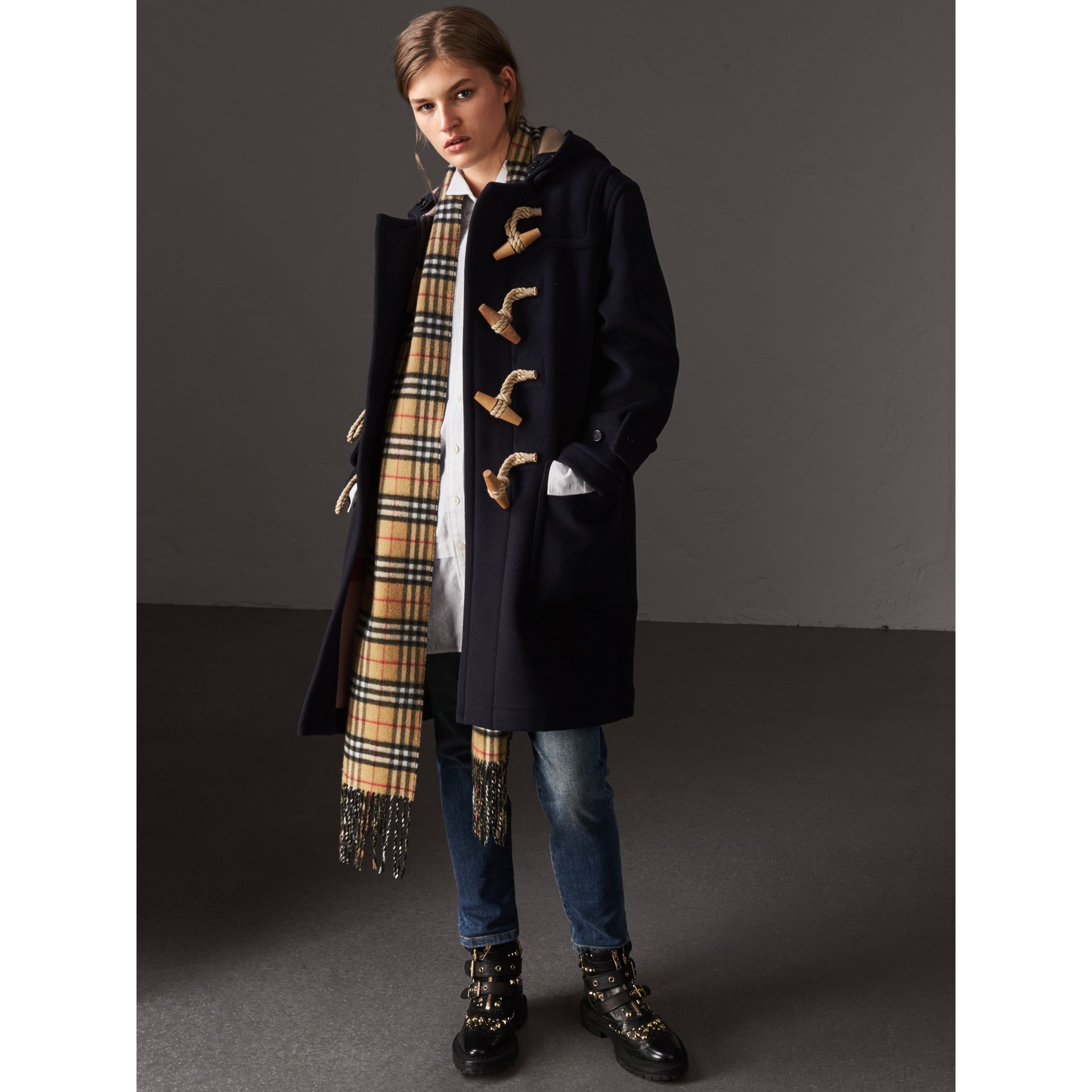 The Greenwich Duffle Coat in Navy - Women | Burberry - gallery image 1