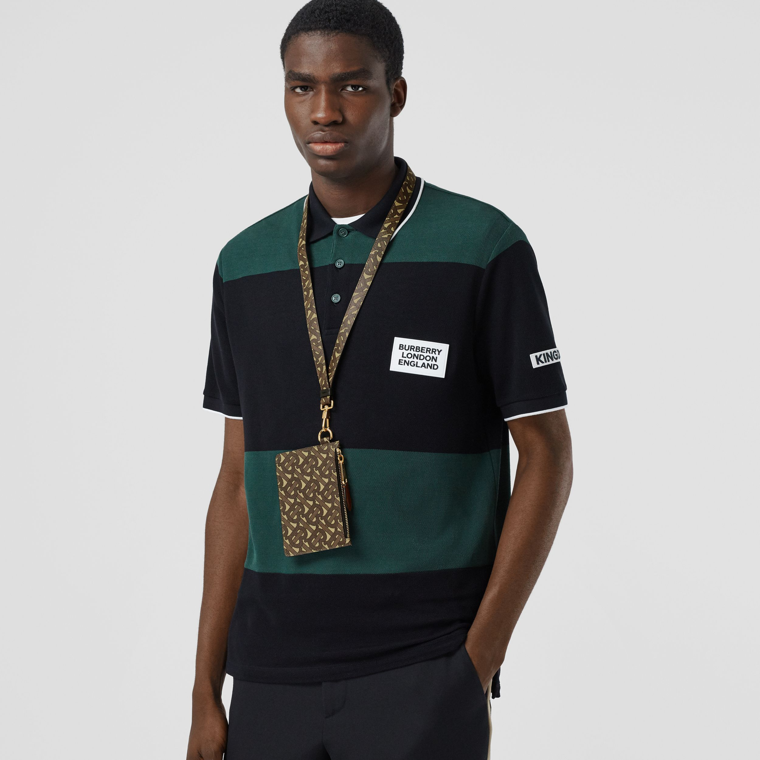Monogram Print E-canvas and Leather Lanyard in Bridle Brown - Men | Burberry Australia - 3