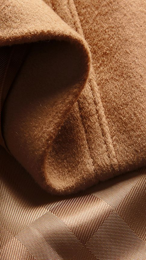 Camel Wool Cashmere Trench Coat - Image 2