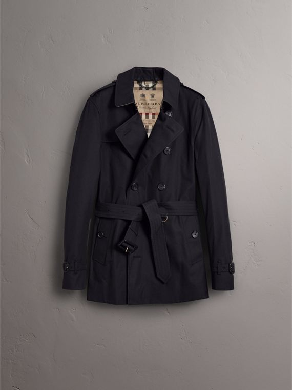 The Sandringham – Short Heritage Trench Coat in Navy - Men | Burberry Hong Kong - cell image 3