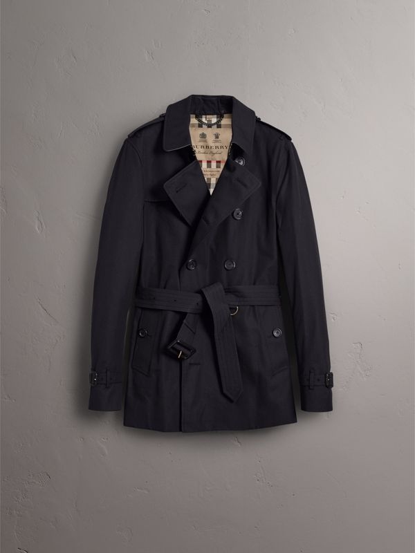 The Sandringham – Short Trench Coat in Navy - Men | Burberry - cell image 3