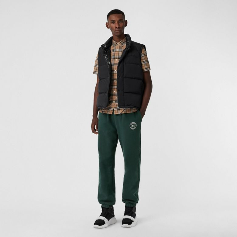 Burberry - Chemise en coton à manches courtes avec motif check - 5