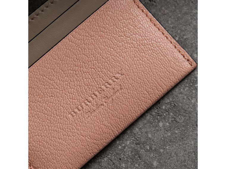 Two-tone Leather Card Case in Pale Ash Rose - Women | Burberry - cell image 1