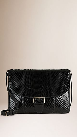 Medium Python Crossbody Bag