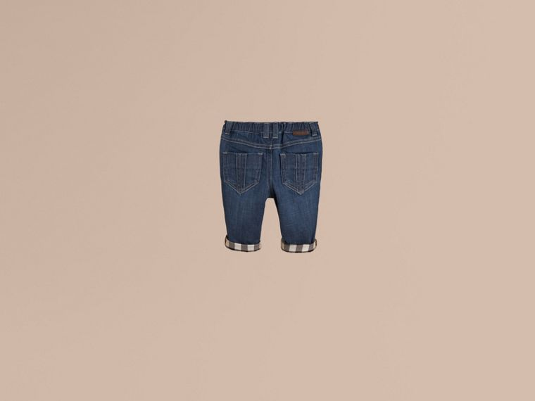 Blue Stretch Denim Jeans - cell image 2