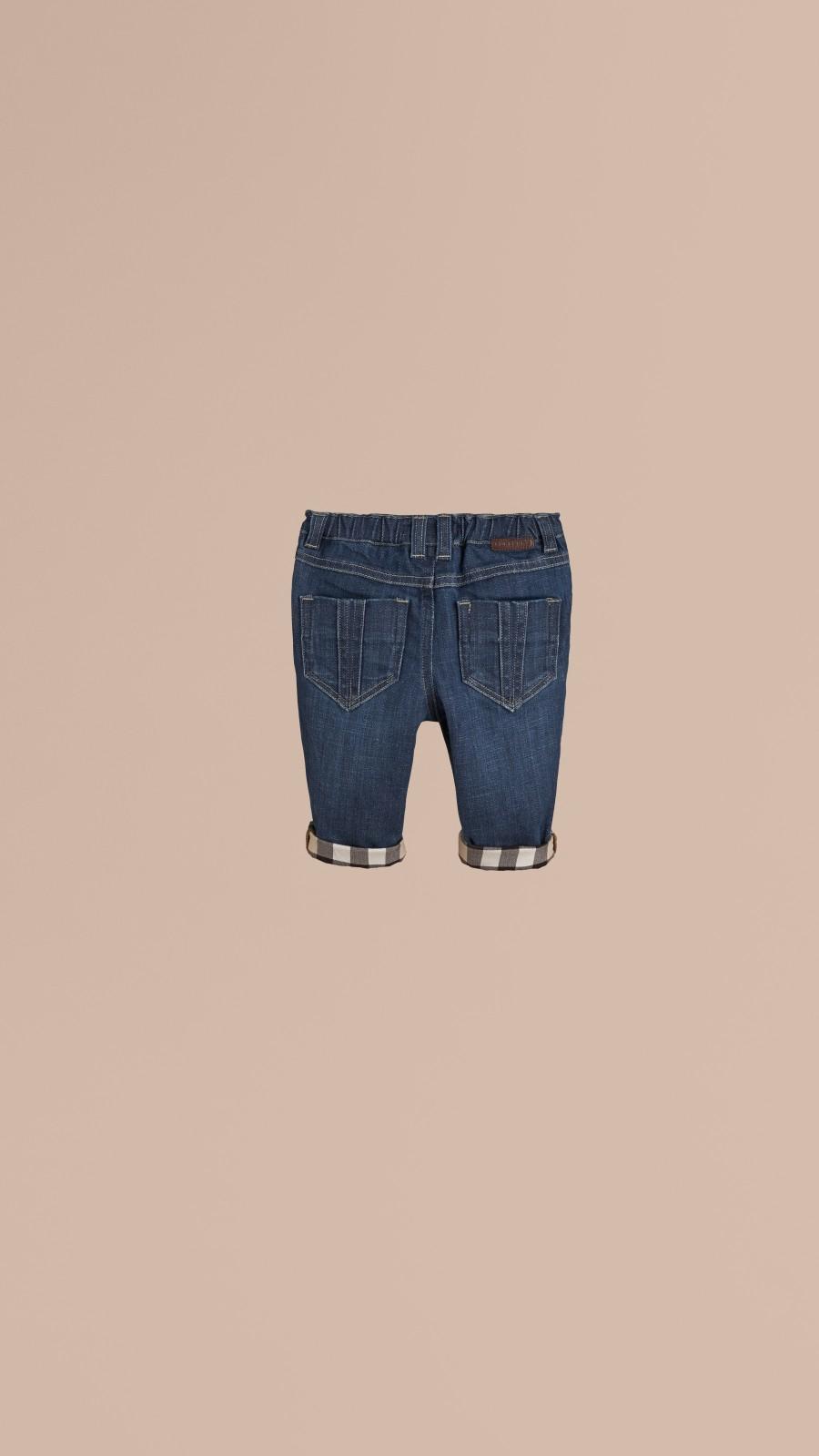 Blue Stretch Denim Jeans - Image 3