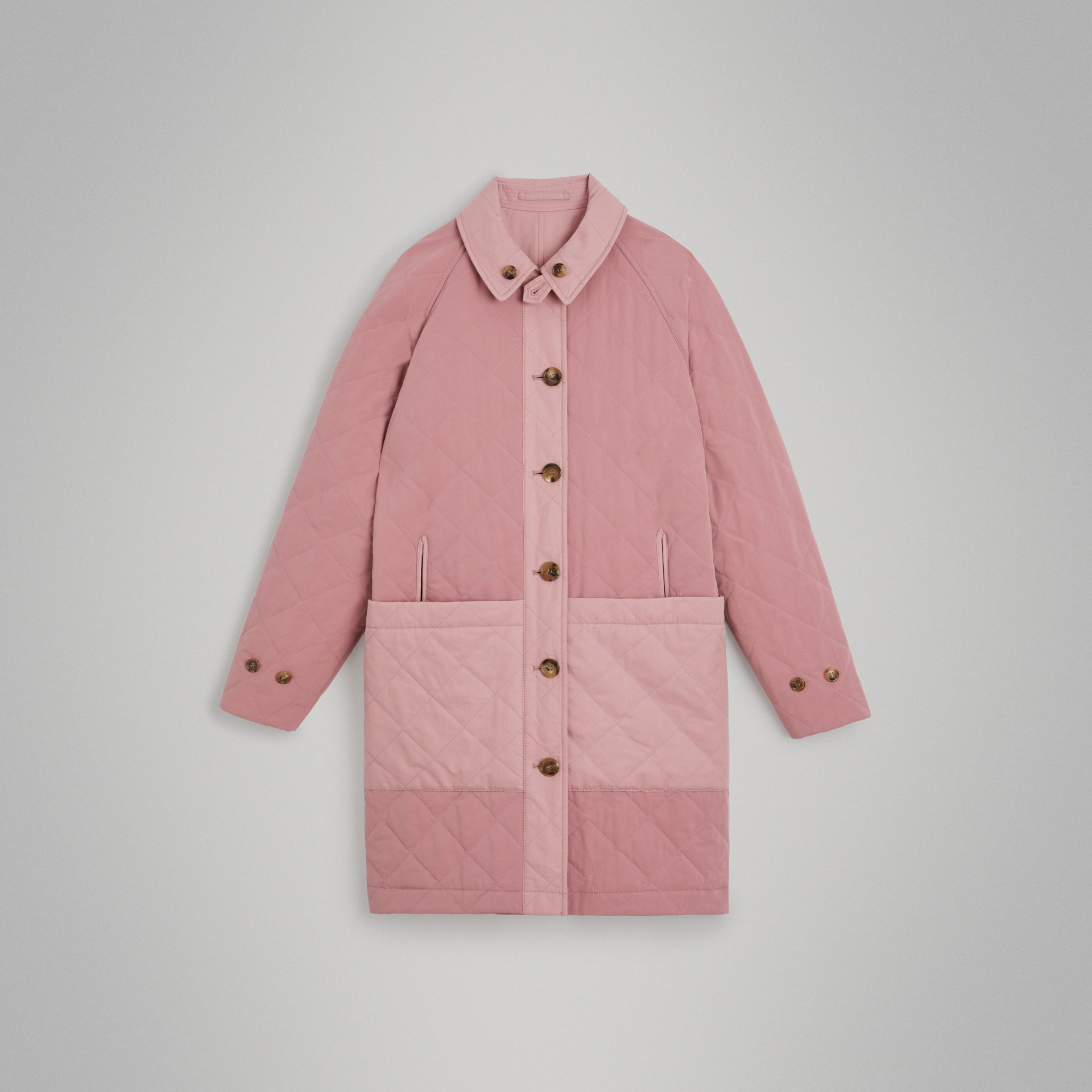 Reversible Tropical Gabardine Car Coat in Chalk Pink | Burberry United States - gallery image 3