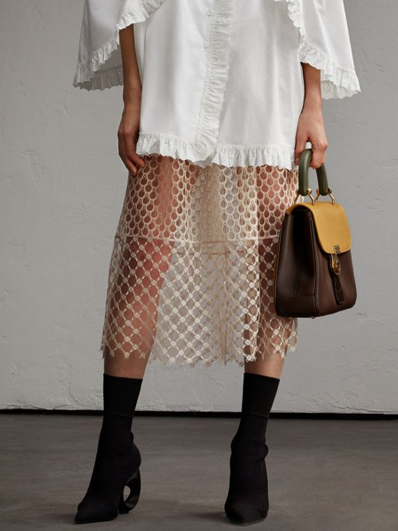 Macramé Lace Peplum Skirt - Women | Burberry