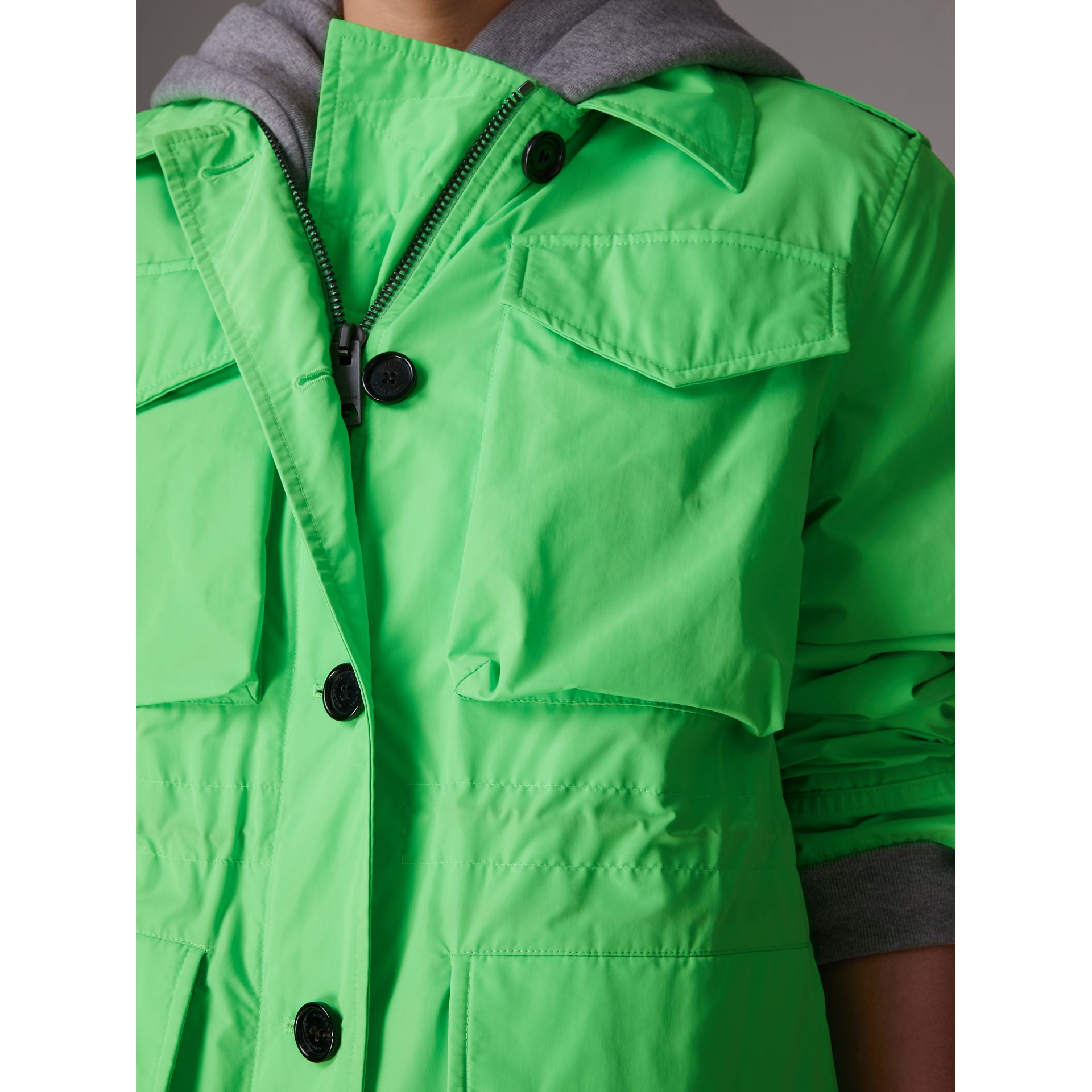 Taffeta Field Jacket in Neon Green - Women | Burberry - gallery image 4