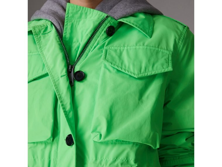 Taffeta Field Jacket in Neon Green - Women | Burberry - cell image 4
