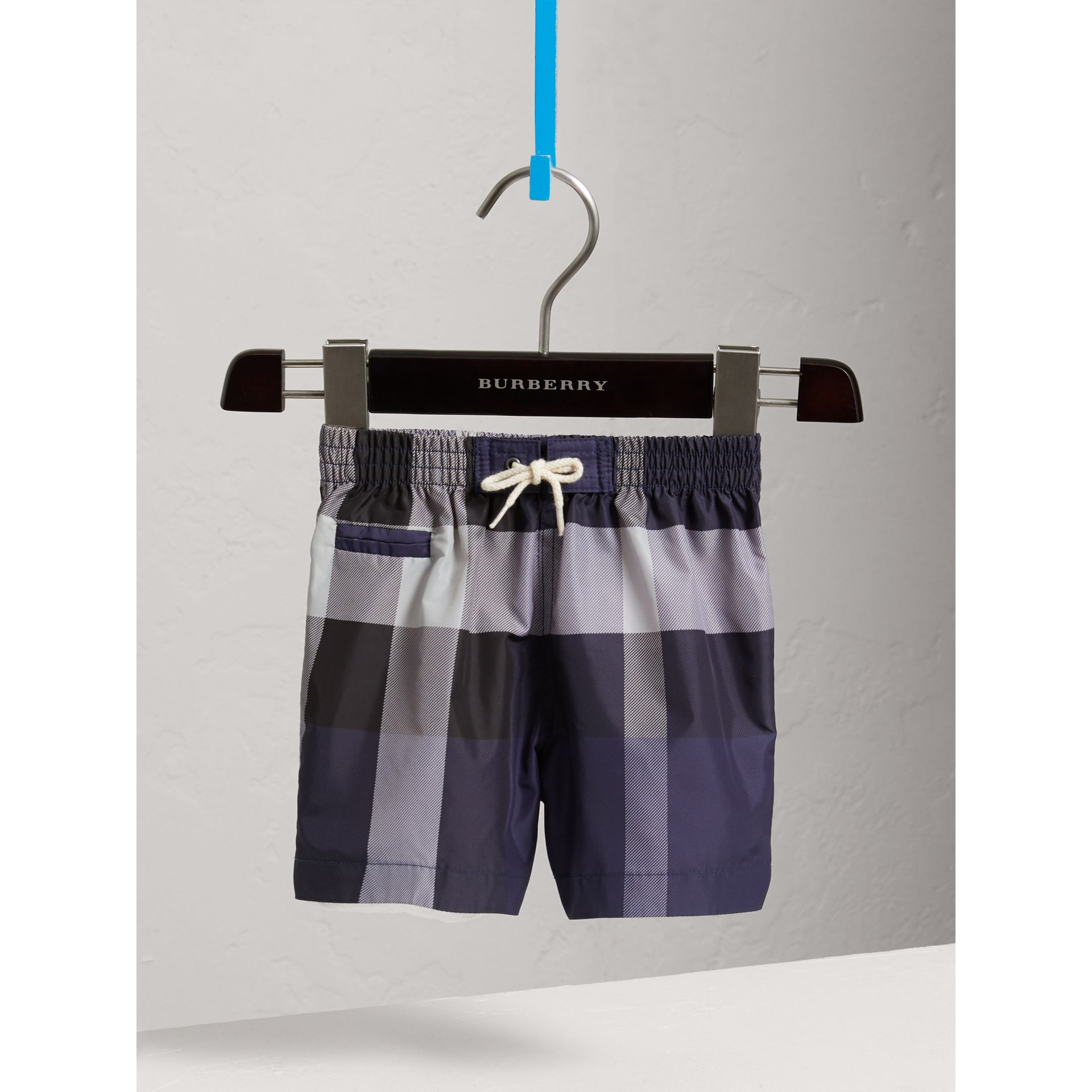 Check Technical Swim Shorts in Ink | Burberry United Kingdom - gallery image 0
