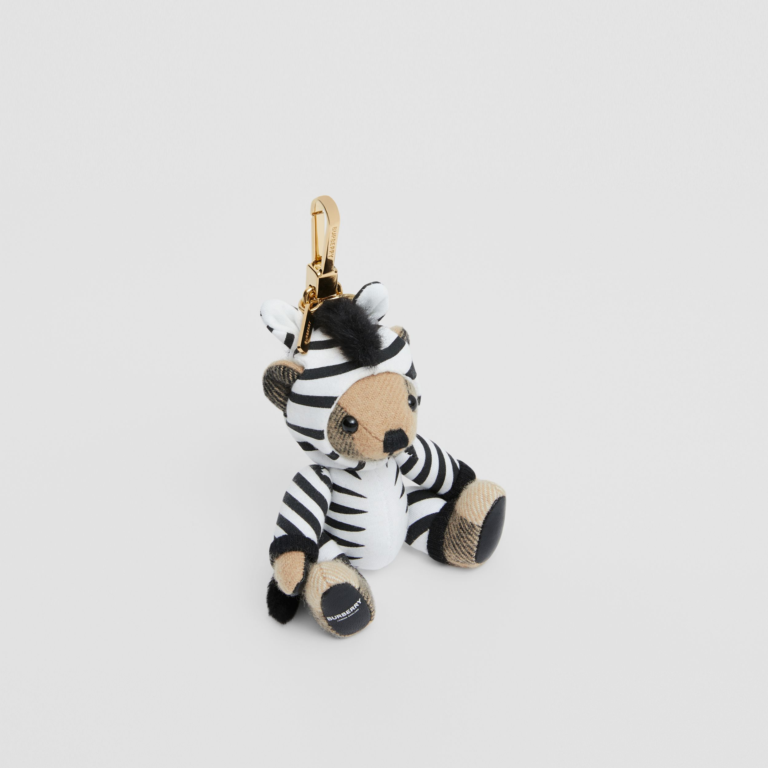 Thomas Bear Charm in Zebra Costume in Archive Beige - Women | Burberry - 1