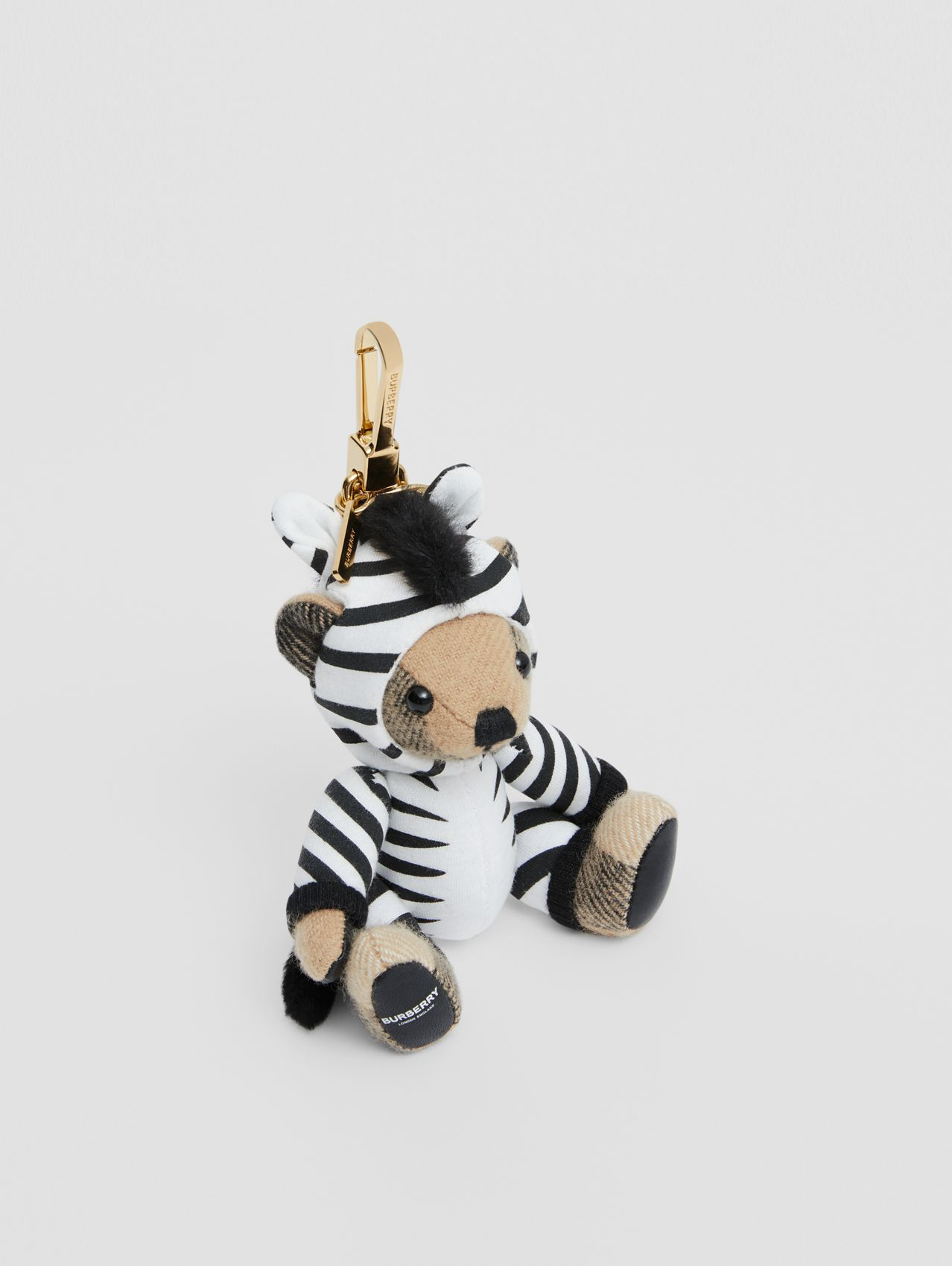 Thomas Bear Charm in Zebra Costume (Archive Beige)