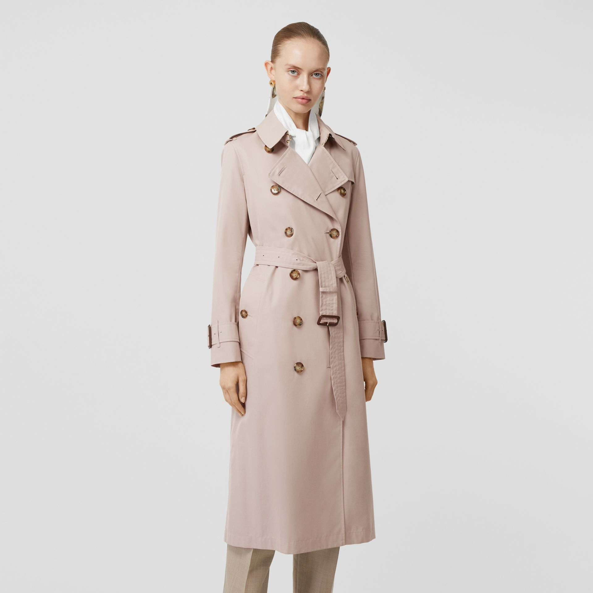 Cotton Gabardine Trench Coat in Pale Blush - Women | Burberry - gallery image 6
