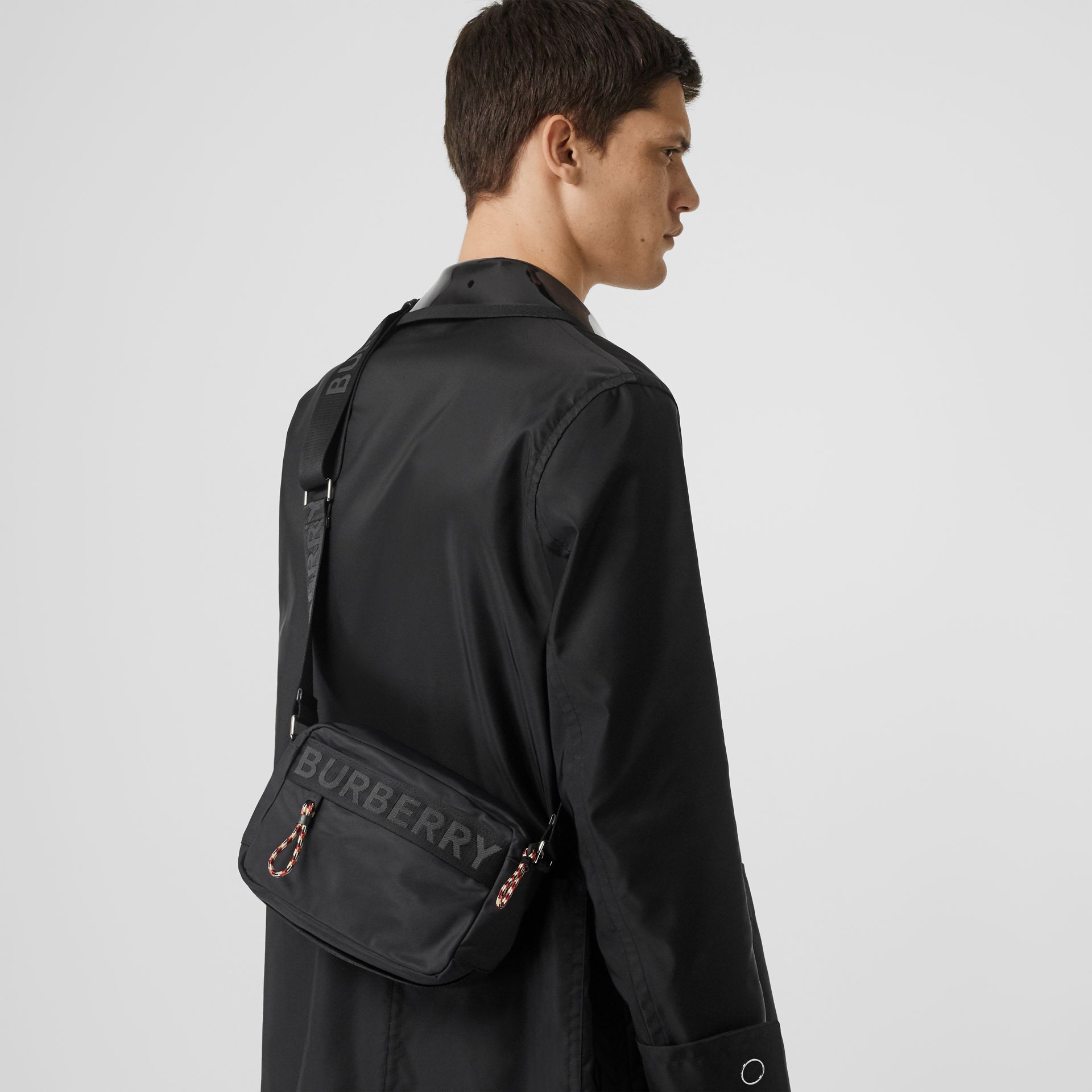 Logo Detail Crossbody Bag in Black - Men | Burberry Australia - gallery image 2