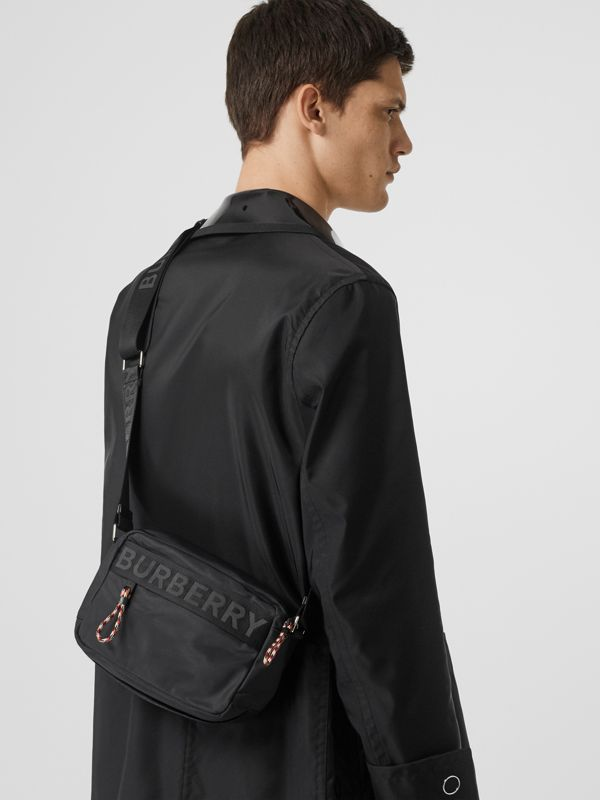 Logo Detail Crossbody Bag in Black - Men | Burberry Australia - cell image 2
