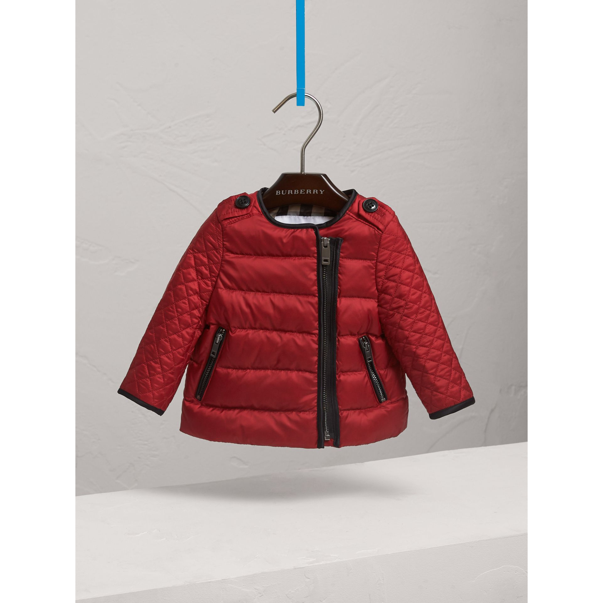 Down-filled Quilted Jacket in Crimson Red | Burberry Singapore - gallery image 3