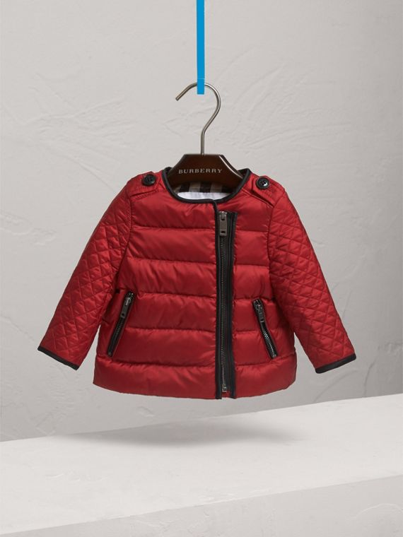 Down-filled Quilted Jacket in Crimson Red | Burberry Singapore - cell image 2