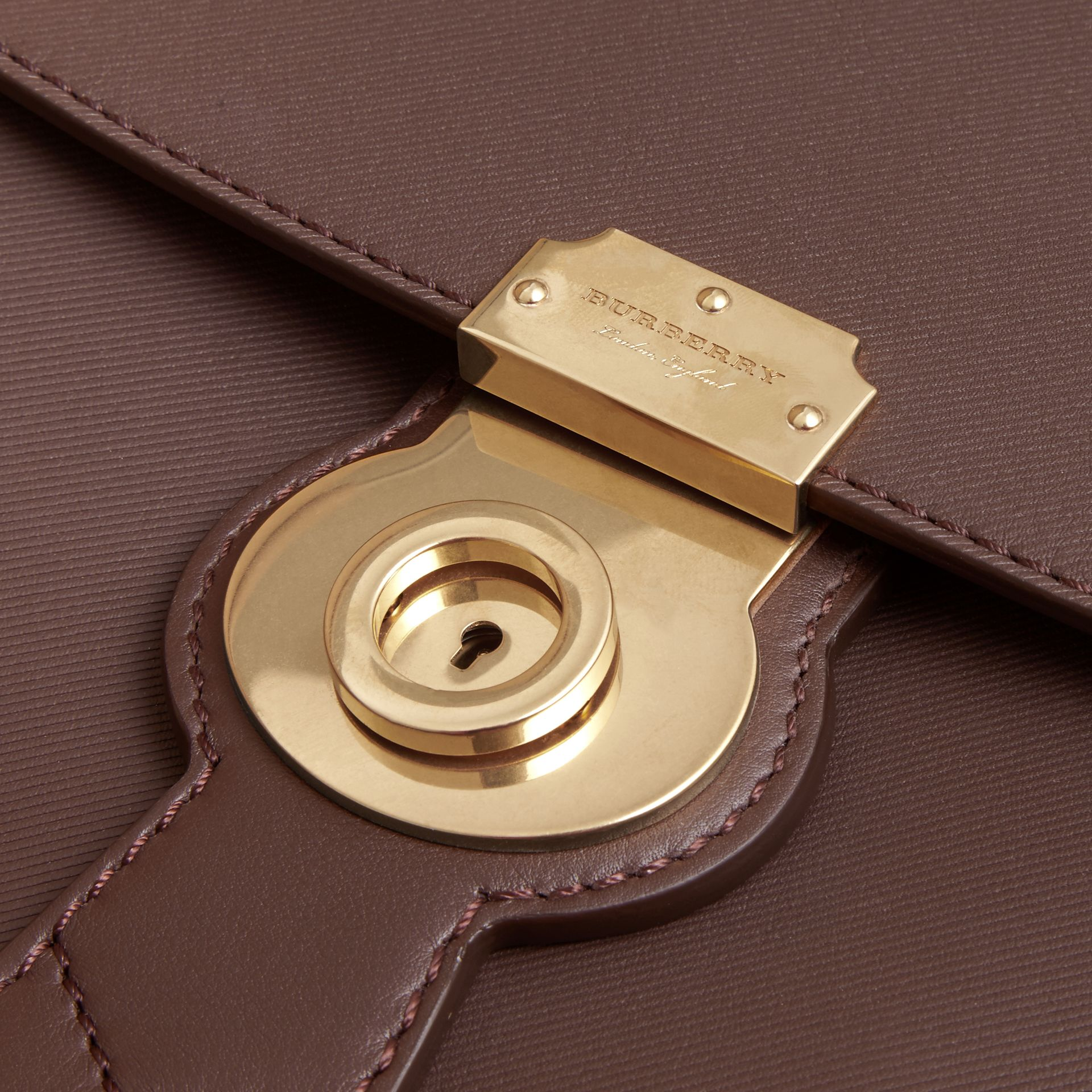 The Medium DK88 Top Handle Bag in Dark Chocolate - gallery image 6