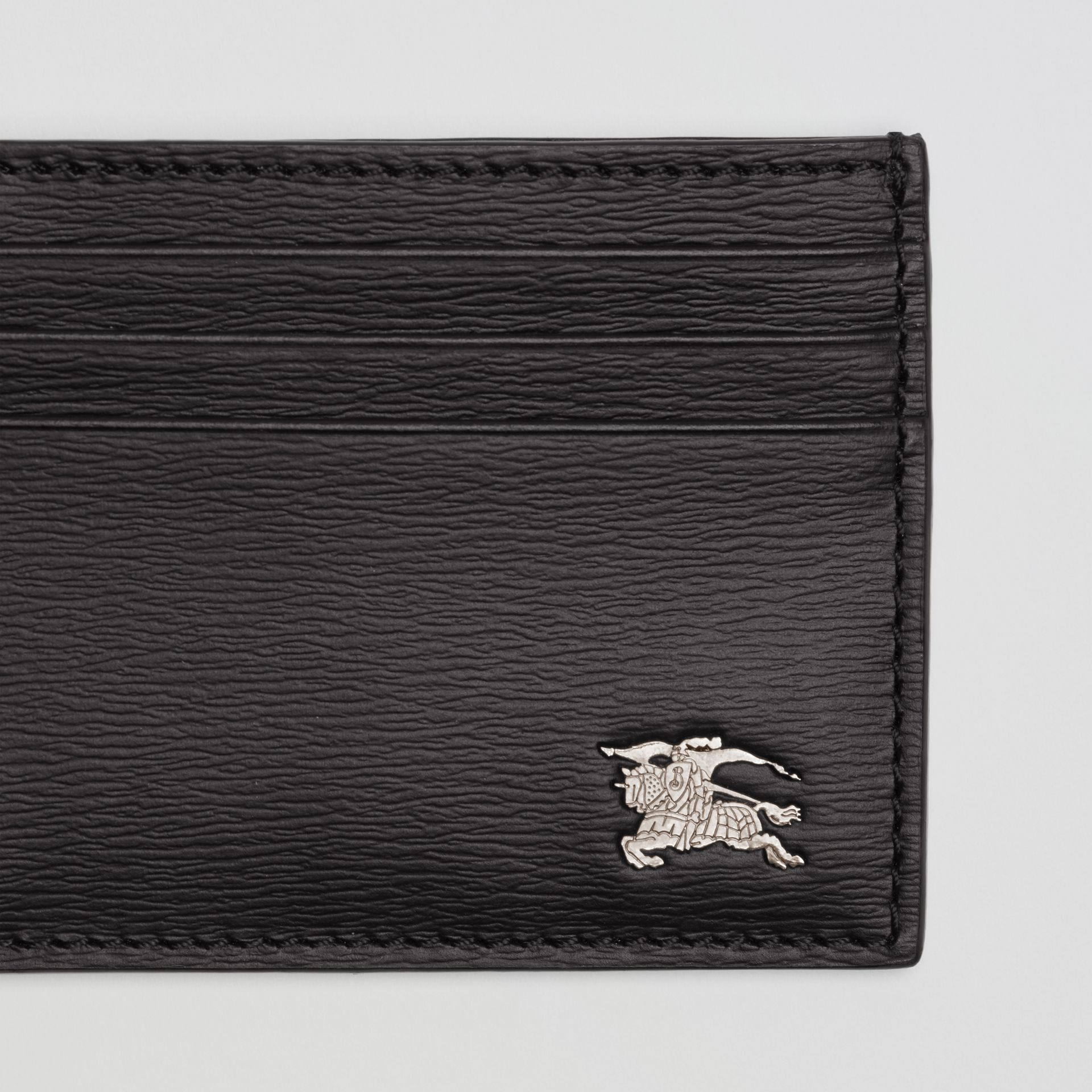 London Leather Card Case in Black | Burberry - gallery image 1