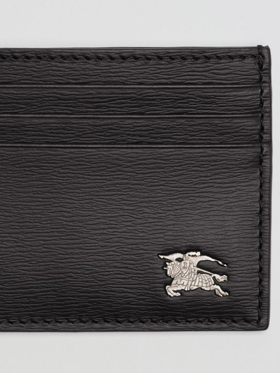London Leather Card Case in Black - Men | Burberry United Kingdom - cell image 1