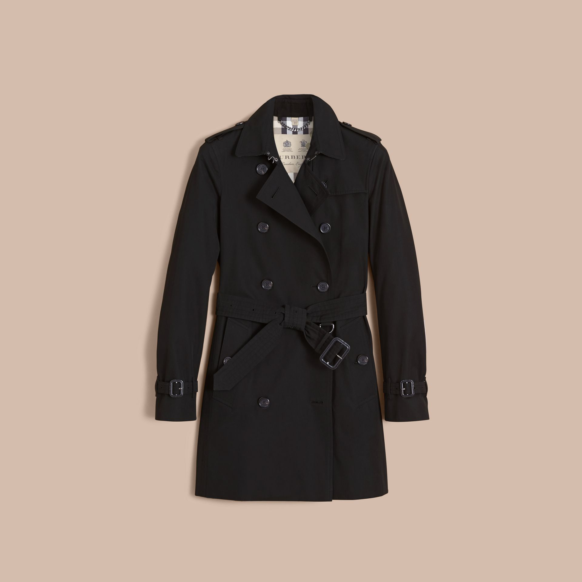 The Kensington – Mid-Length Heritage Trench Coat Black - gallery image 4