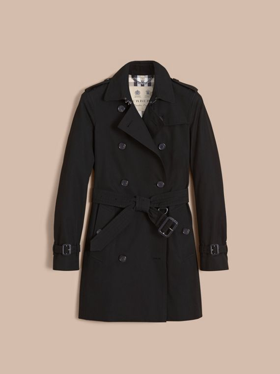 The Kensington – Mid-Length Heritage Trench Coat in Black - Women | Burberry - cell image 3