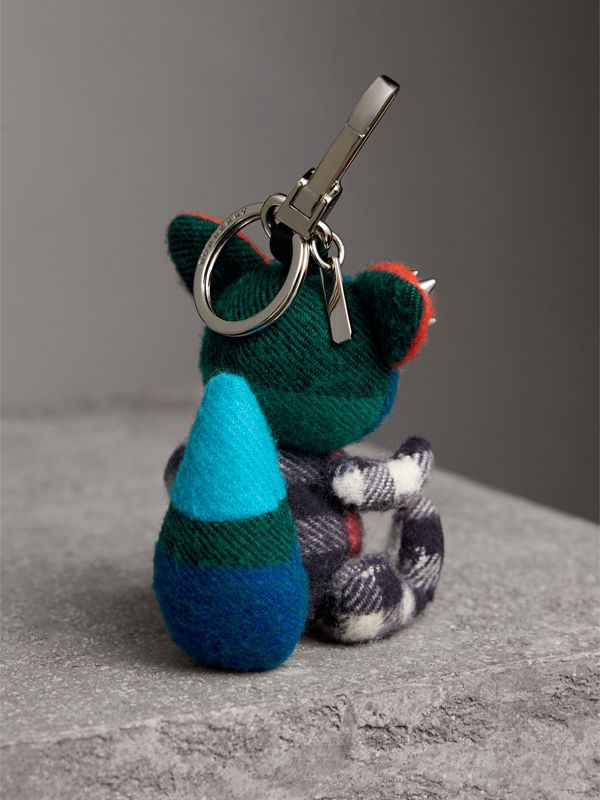 Dave The Fox Cashmere Charm in Navy | Burberry - cell image 3