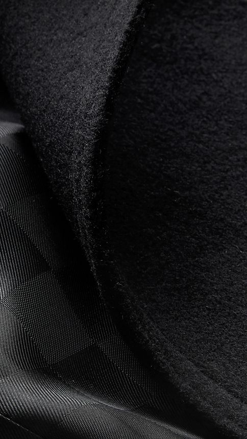 Black Virgin Wool Cashmere Trench Coat - Image 6