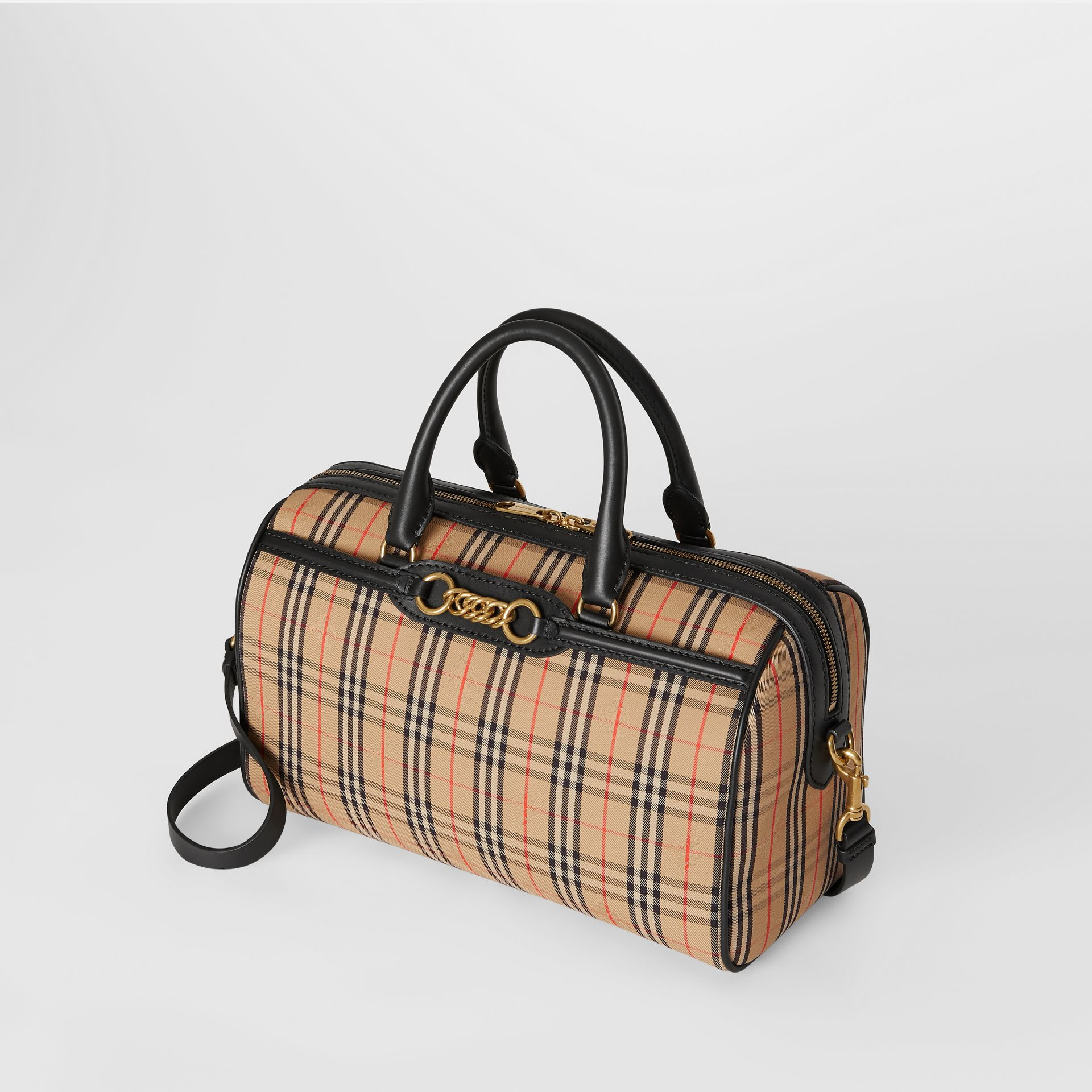 The Medium Link Bowling Bag im Karodesign (Schwarz) - Damen | Burberry - Galerie-Bild 4