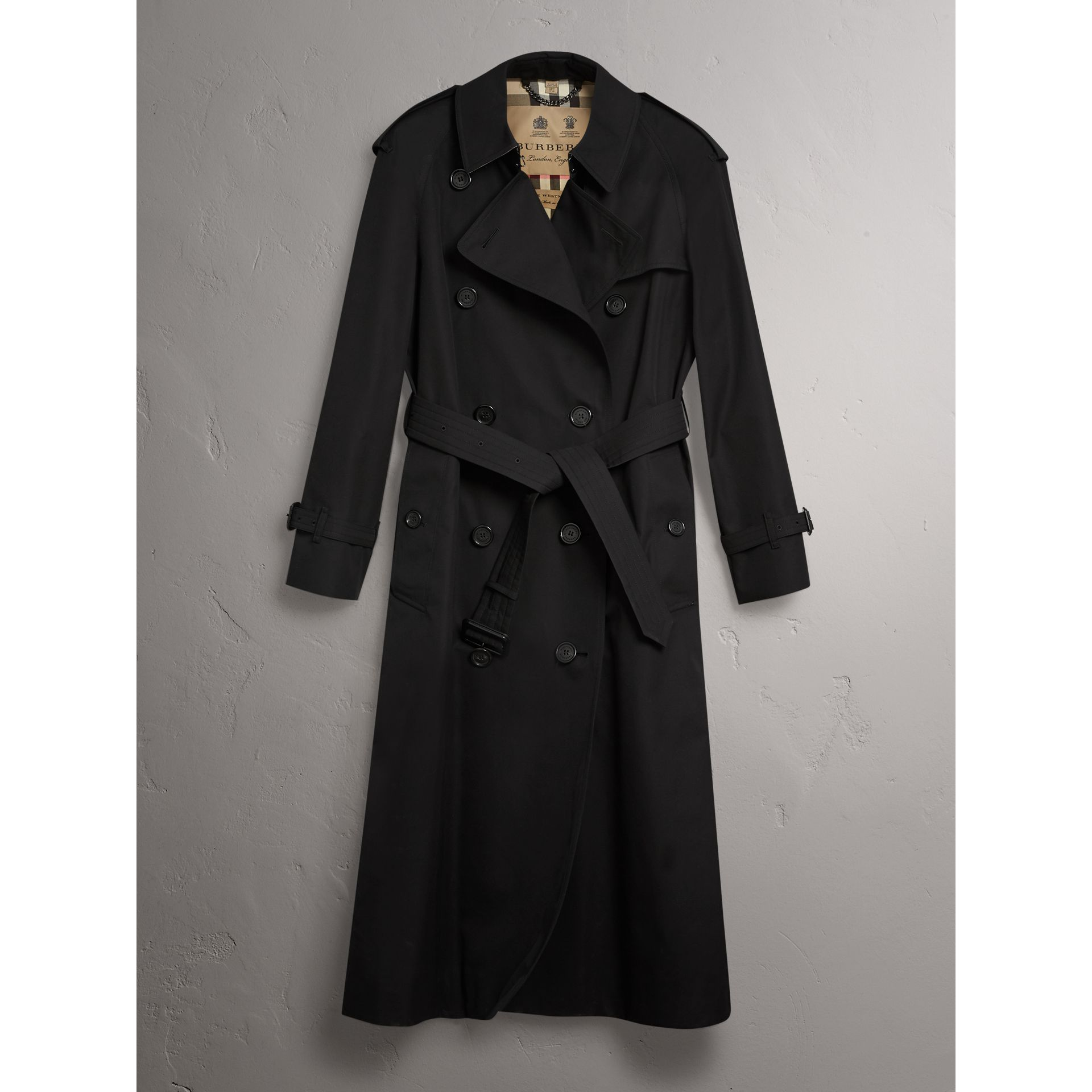 The Westminster – Extra-long Trench Coat in Black - Women | Burberry United Kingdom - gallery image 4